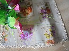 Úžitkový textil - Stredový obrus-kvety - 10911479_