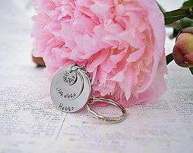 Kľúčenky - rodinná kľúčenka(2, alebo 3 mená) - 10912462_