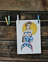 Grafika - morská panna - 10911979_