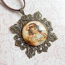 Náhrdelníky - Vintage Filigree Pendant / Starobronzový filigránový prívesok - 10914667_