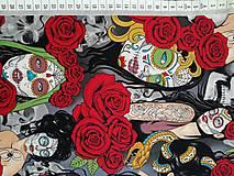 Textil - Exkluzívna bavlnená látka Nocturna - 10915618_
