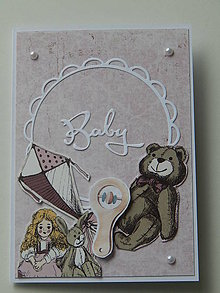 Papiernictvo - Pohľadnica k narodeniu bábätka - Baby - 10915395_