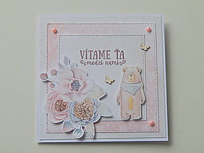 Papiernictvo - Pohľadnica k narodeniu bábätka - pastelová - 10915397_