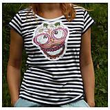 Tričká - Dámske pásikavé tričko - OčiPuči Pimkie - 10916033_