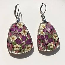 Náušnice - Náušnice lúčne kvety ružové / ZR1 - 10916692_