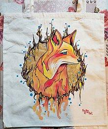 Nákupné tašky - Taška s líškou - 10915499_