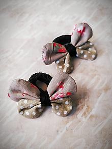 Ozdoby do vlasov - Gumičky pre malé vrkôciky - motýliky - 10915247_