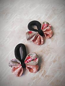 Ozdoby do vlasov - Gumičky pre malé vrkôciky - motýliky ružové - 10915265_