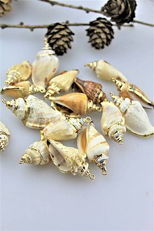Minerály - mušličky vhodné na náušnice a prívesky - 10915331_