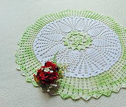 Úžitkový textil - Háčkovaná dečka Zelenkavá - 10915194_