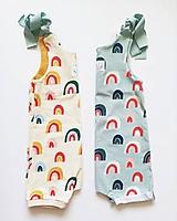 Detské oblečenie - Letný rastúci overal  (Mint dúhy) - 10916903_