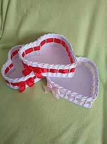 Košíky - Kosik srdce 22x22x8cm - 10915634_