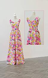 Šaty - Dlhé kvetované šaty - 10914482_
