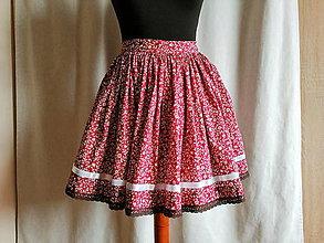 Sukne - Bordová sukňa krojová - 10916789_
