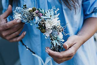 Ozdoby do vlasov - Polvenček Modrá - 10914351_