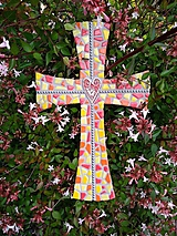 Dekorácie - Kríž perličkový II. - 10915748_