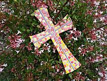 Dekorácie - Kríž perličkový II. - 10915752_