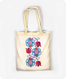 Nákupné tašky - Bavlnená taška Červeň a Modraň - 10915957_
