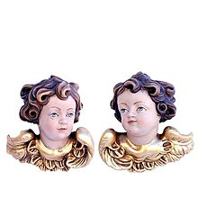 Socha - Anjelsky pár (4cm - Zlatá) - 10914704_