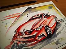 Obrazy - Auto láska ♥ - 10916750_