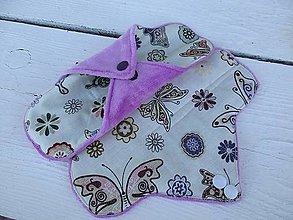 Úžitkový textil - denná látková vložka s bambusového aksamitu-motýľ - 10916624_
