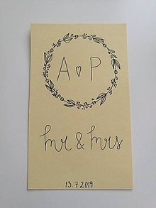 Darčeky pre svadobčanov - Svdadobné prianie - pohľadnica - 10914959_