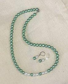 Sady šperkov - Náhrdelník a náušnice z perleťových korálikov - 10915675_