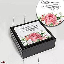 Krabičky - Romantická drevená šperkovnica s Vašim textom - 10914527_