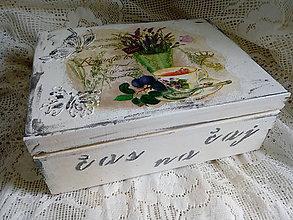 Krabičky - Krabica drevena čajovka - 10916411_