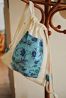 Batohy - Bielo tyrkysový ruksak - 10916239_