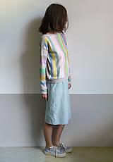 Tričká - pásikové tričko dlhý rukáv - 10915272_