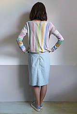 Tričká - pásikové tričko dlhý rukáv - 10915273_