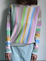 Tričká - pásikové tričko dlhý rukáv - 10915274_