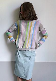 Tričká - pásikové tričko dlhý rukáv - 10915271_