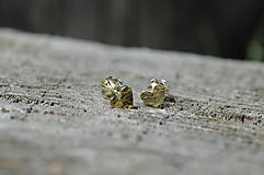 Náušnice - Náušničky ♥♥ tepané srdiečka zlaté - 10917644_