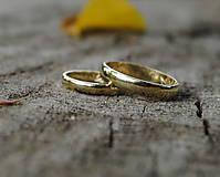 """Prstene - Obrúčky """"Som klasik"""" zlaté - 10917649_"""