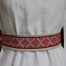 Opasky - Ľanový opasok Východ - 10918745_