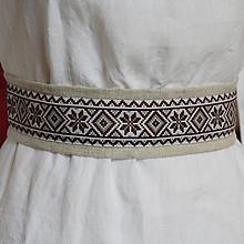 Opasky - Ľanový opasok Juh hnedý - 10918778_