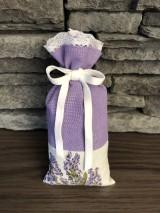 Úžitkový textil - Vrecusko plnene levandulou - rezervovane - 10917188_