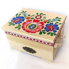 Krabičky - Drevená skrinka rozkladacia-ručne maľovaná - 10918185_