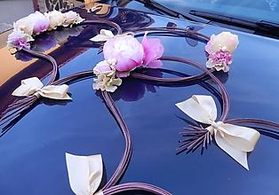 Dekorácie - Ozdoba na auto srdcia ružové - 10918242_