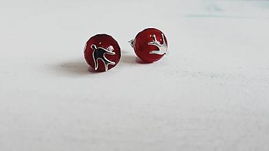Náušnice - Náušnice rubínové holubice - 10917777_