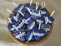 Darčeky pre svadobčanov - Svadobné srdiečka modré,folk - 10917661_