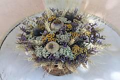 Dekorácie - Košík sušených kvetín - 10917709_