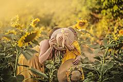 Ozdoby do vlasov - Veľký kvetinový venček Slnečnice - 10919505_