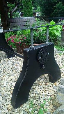 Nábytok - Ocelova podnoz stola Wenge - 10918716_