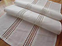 Úžitkový textil - Biela ľanová štóla Lily - 10917624_