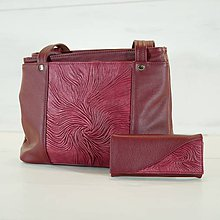 Veľké tašky - Kožený set - Anita s peňaženkou - 10920008_