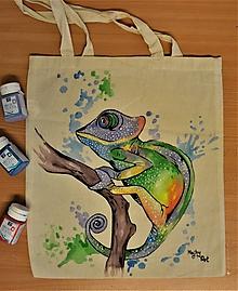 Nákupné tašky - Taška s chameleónom - 10918855_