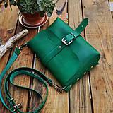 Kabelky - Kožená kabelka Hanna (zelená) - 10919021_